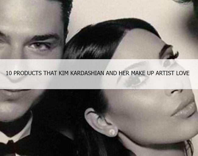 10 Produtos de maquiagem favoritas de kim kardashian