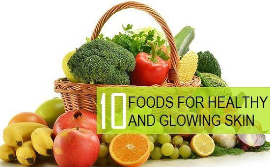 10 Grandes alimentos para a pele saudável e brilhante
