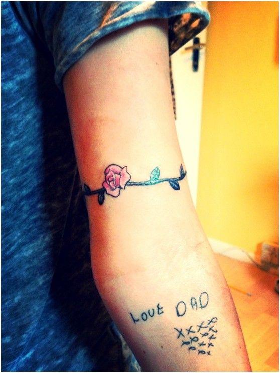 Tatuagem bonito Flor Armband