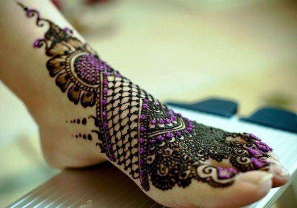 Melhor árabe Mehndi Designs pés bridal 10