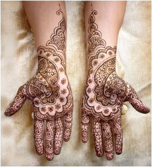 Melhor árabe Mehndi Designs para as mãos de noiva 19