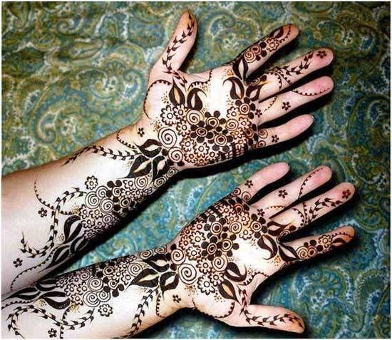Melhor árabe Mehndi Designs para as mãos fáceis 22