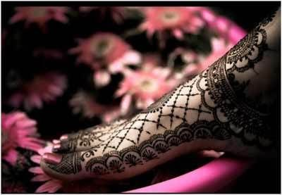 Melhor árabe Mehndi Designs para os pés bridal 24