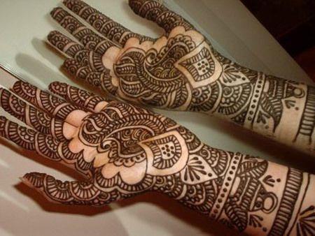 Melhor árabe Mehndi Designs de noiva para as mãos 8