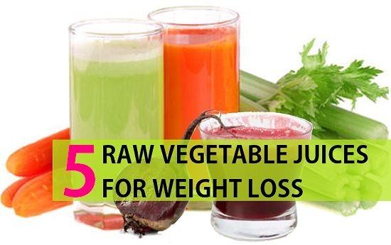 5 Sumos de vegetais crus saudáveis para perda de peso