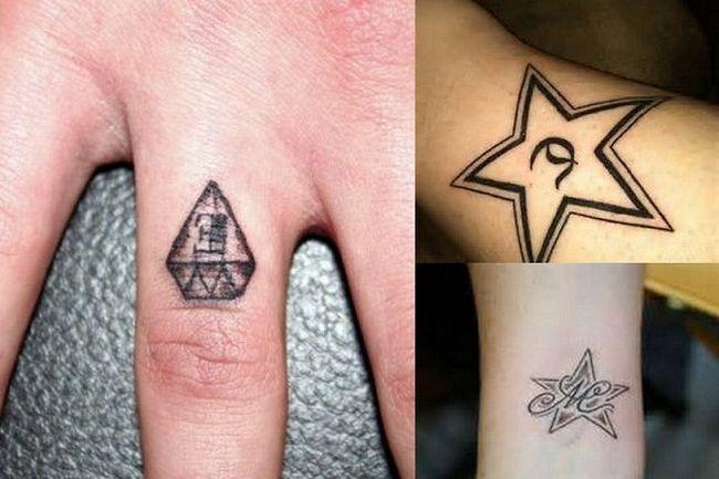 melhor design dedo tatuagem com as iniciais casais