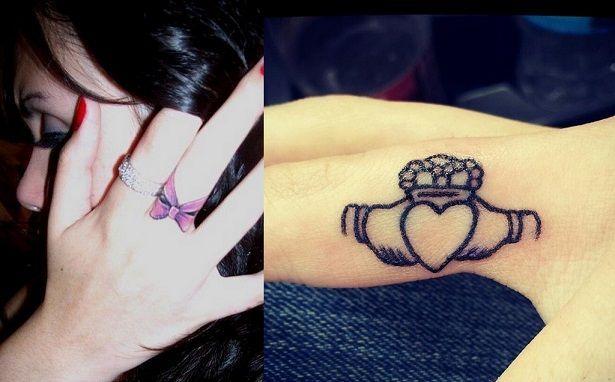 melhor tatuagem dedo desenha arcos corações