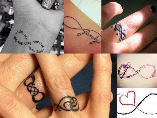 melhor sinal de design infinito dedo tatuagem