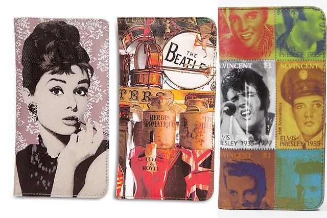 embreagens Audrey Elvis Beatles