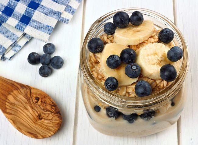 Melhor café da manhã para você aveia durante a noite