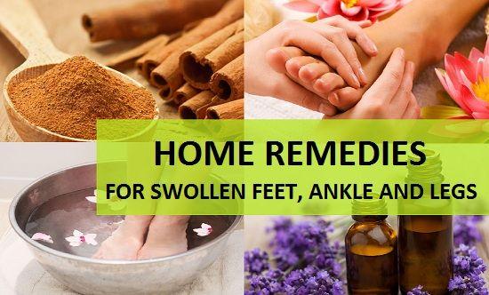 Remédios caseiros para pés inchados, tornozelo e pernas