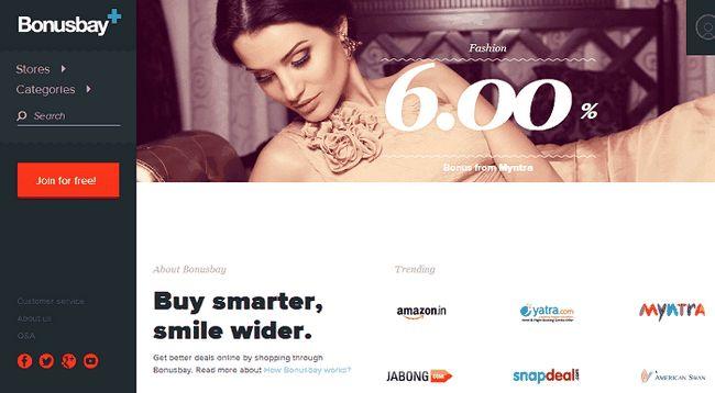 bonusbay avaliação cashback india
