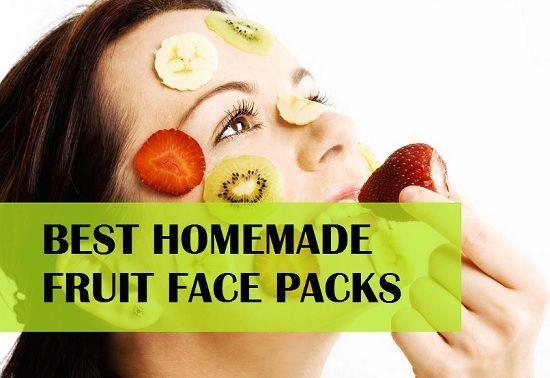 Embalagens de frutas rápidas para a pele brilhante e rosto mais suave