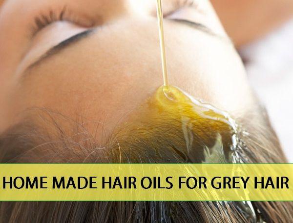 Receita de óleo de cabelo caseiros para tratamento de cabelos grisalhos