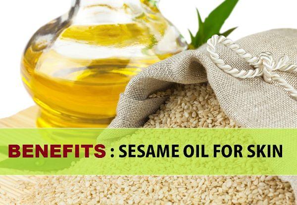 Benefícios óleo de gergelim para a pele