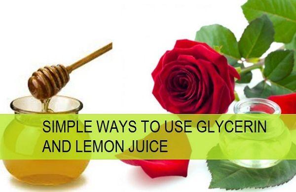 Maneiras simples de usar glicerina e suco de limão
