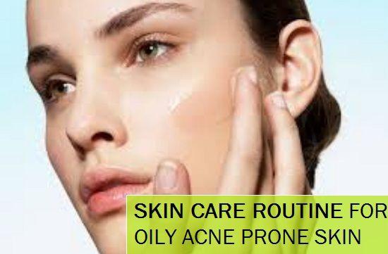 Rotina de cuidados da pele para pele oleosa e acne propensos pele