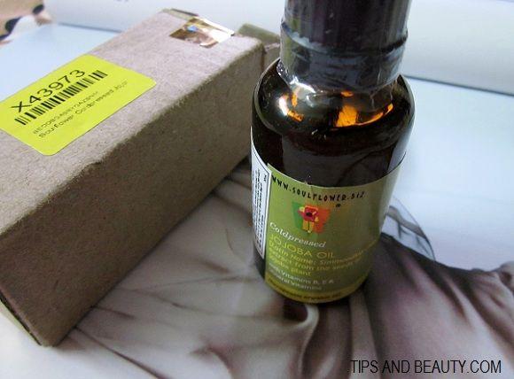 Soulflower prensados a frio jojoba revisão de óleo, preço, benefícios