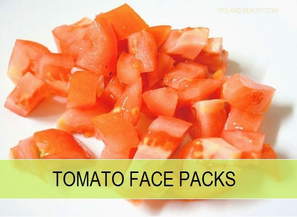 Pacote de rosto tomate para a pele brilhante livre tan