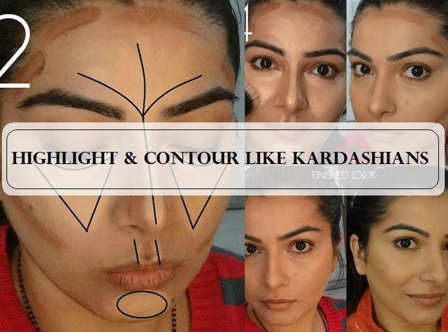 Tutorial: como contorno e destacar o seu rosto como kardashians