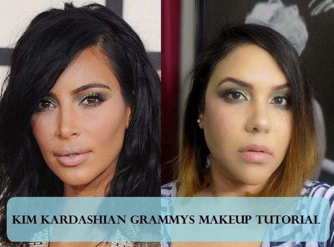 Tutorial: como kim kardashian smokey olhos e lábios nus