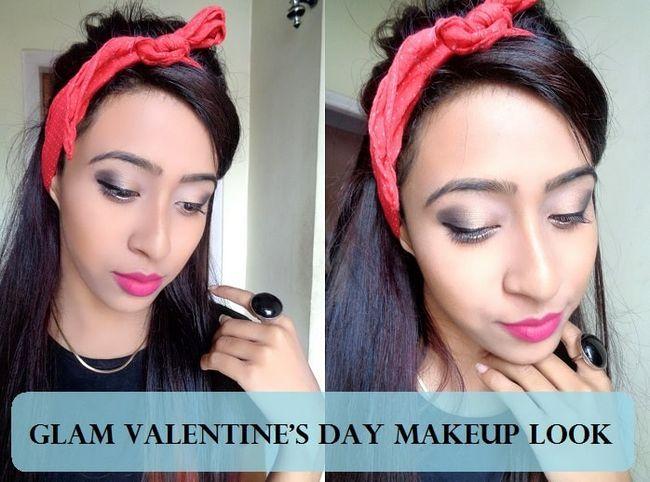 Dia olhar maquiagem rosa romântico dos namorados: tutorial