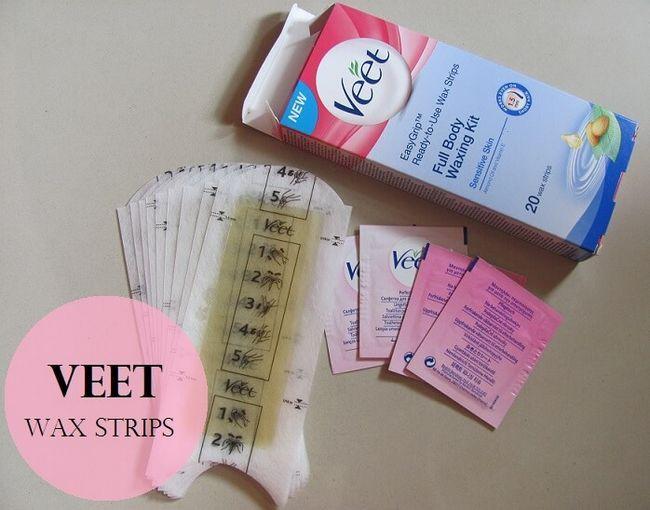 Veet pronto para usar tiras de cera kit de depilação corporal total: revisão, demonstração