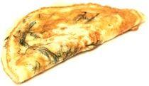Omelete dobrado ao meio